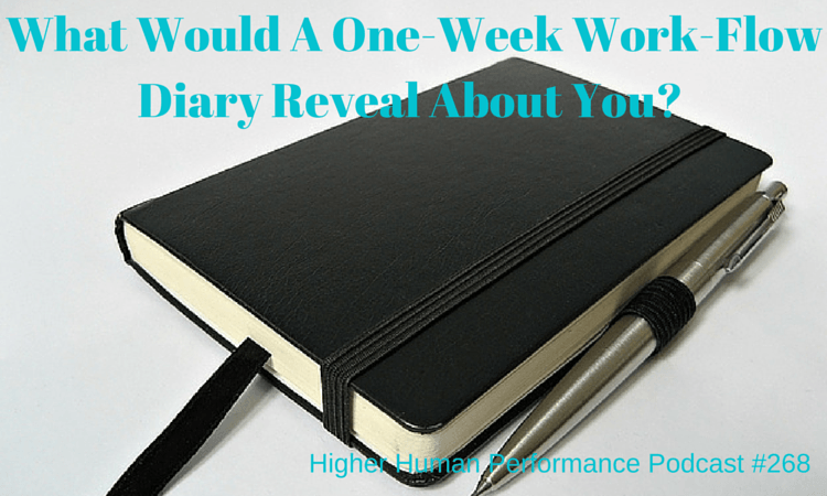 What Would A One-Week Work-Flow Diary Reveal About You? (A Powerful Tool To Improve Your Productivity) - HIGHER HUMAN PERFORMANCE Podcast Episode 268