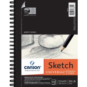 One of Randy Cantrell's favorite notebooks - the Canson Universal Sketchpad