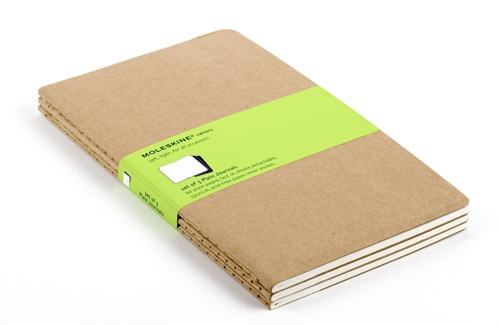 Randy Cantrell loves these Moleskine XLarge ruled cahier journals