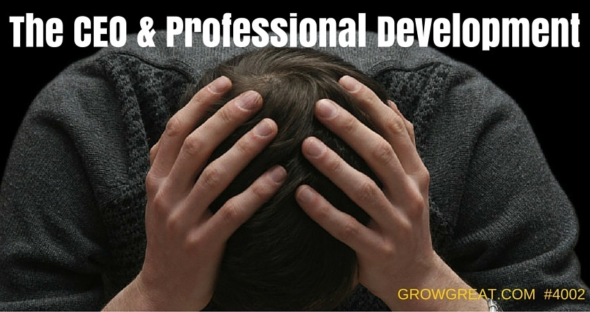The CEO & Professional Development - GROW GREAT Podcast Episode 4002