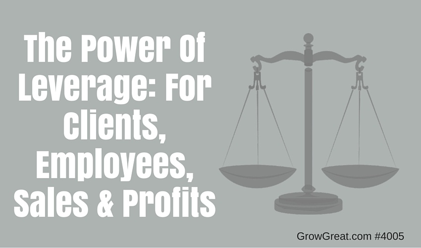 The Power Of Leverage: For Clients, Employees, Sales & Profits - GROW GREAT Podcast Episode 4005