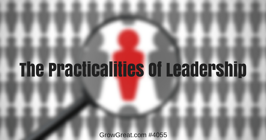 The Practicalities Of Leadership #4055 - GROW GREAT