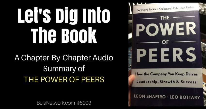 Let's Dig Into The Book: A Chapter-By-Chapter Audio Summary Of THE POWER OF PEERS #5003 - BULA NETWORK