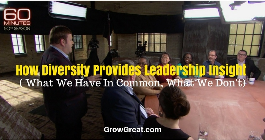 How Diversity Provides Leadership Insight ( What We Have In Common, What We Don't) - THE PEER ADVANTAGE