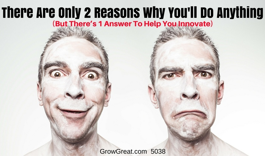There Are Only 2 Reasons Why You'll Do Anything (But There's 1 Answer To Help You Innovate) – 5038