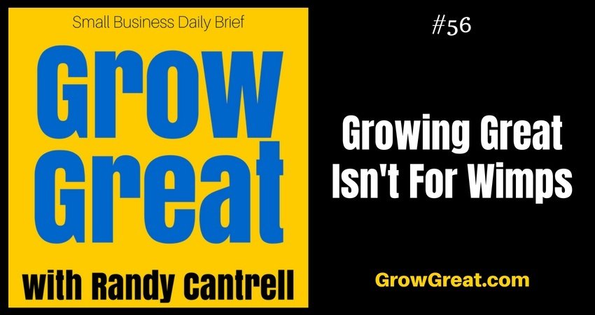 Growing Great Isn't For Wimps – Grow Great Small Business Daily Brief #56 – August 8, 2018