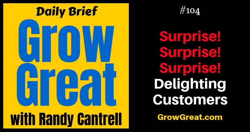 Surprise! Surprise! Surprise! Delighting Customers – Grow Great Daily Brief #104 – November 14, 2018