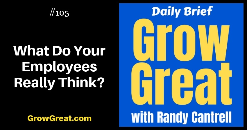 What Do Your Employees Really Think? – Grow Great Daily Brief #105 – November 19, 2018